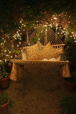 Heavenly Hammock under sparkling lights