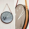 DIY: Ikea Clock with Leather Belt Hanger