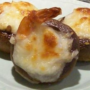 Shrimpcargot - shrimp stuffed mushrooms