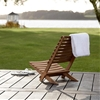 High/Low Folding Wood Beach Chairs