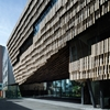 Kengo Kuma creates facade of wooden strips for University of Tokyo computing facility