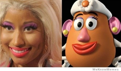 i hate you nicki minaj. i love you interwebs for hilarious pictures like this.