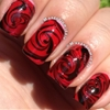 Red Rose Water Marble tutorial x