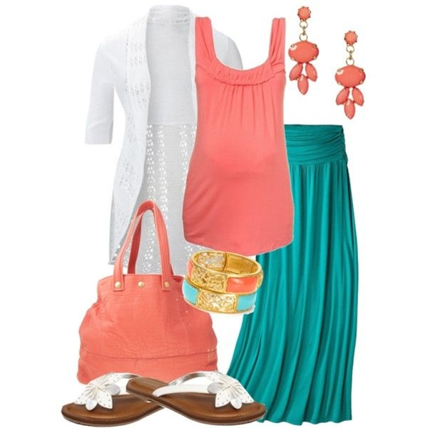 mom-to-be in summer colors by meganpearl on Polyvore