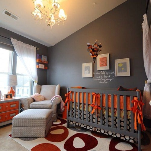 "the perfect nursery for a boy or girl that doesn't look overly ""baby"" at all."