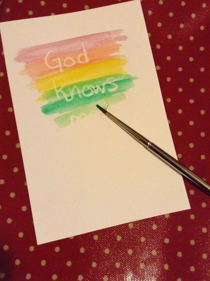 Flame: Creative Children's Ministry: God knows us wax resist painting - you could use whatever phrase is appropriate for that lesson.
