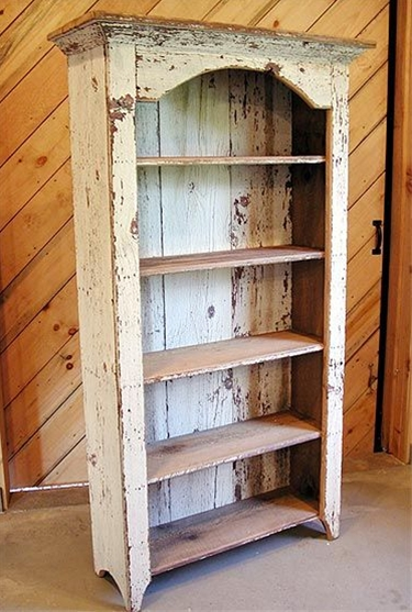 Bookshelf made from salvaged wood - via Enduring Charm