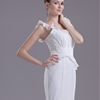Trumpet/Mermaid Scoop Floor Length Chiffon dress with Ruffles