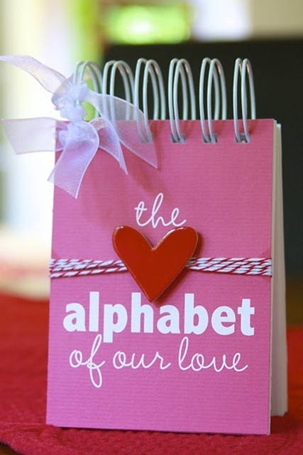 Include a different reason why you love the person you love for each letter of the alphabet!