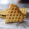 Waffled Almond Sandwich Cookies