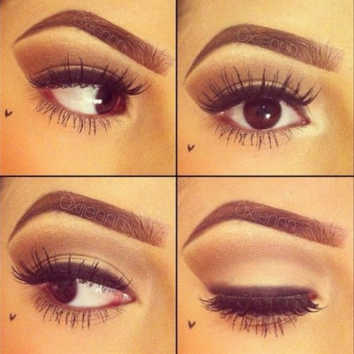 love this look - especially on deep brown eyes!