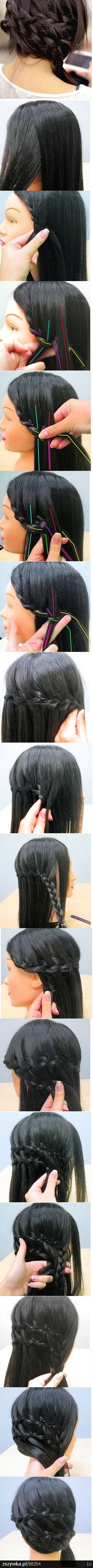 waterfall braid. must try