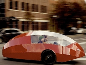 The Zeppelin aims to fuse the best bits of car and bicycle design