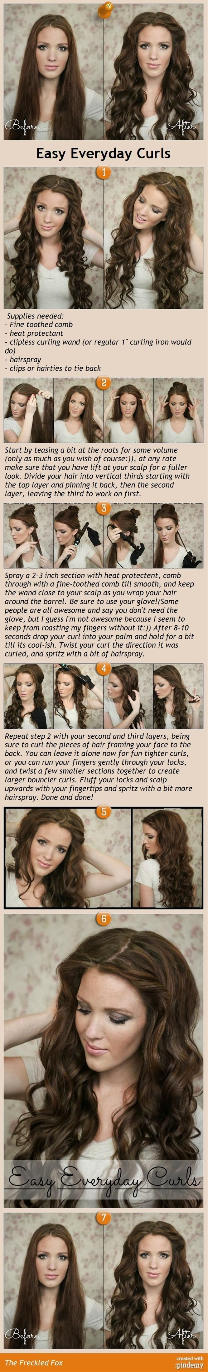 Superb tutorial for DIY curls that anyone can follow.