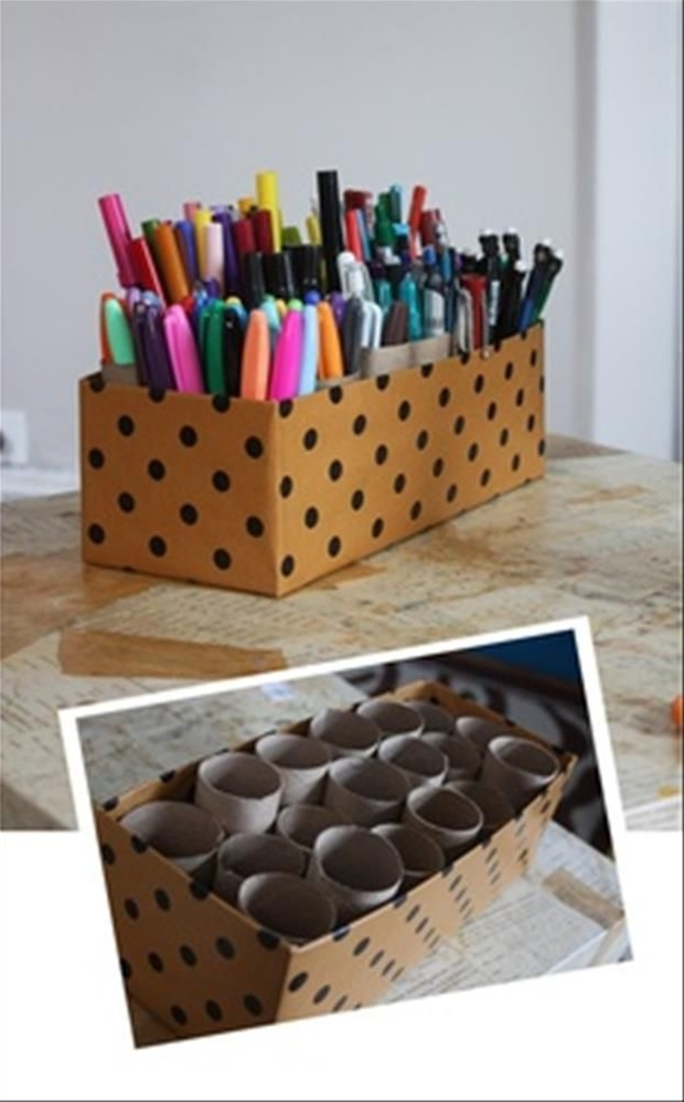 nice way to recycle toilet paper rolls.