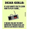 To every non-gamer girl out there. #9gag