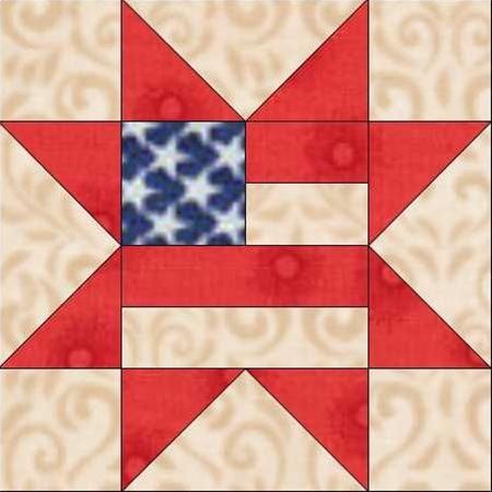Americana. Quilt. USMC. 12 inch quilt block patterns | flag-star.jpg