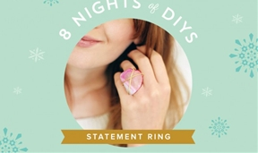 8 Nights of DIYs: Gemstone Rings That Complement Your New Year's Toast