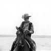 James Dean filming Giant, Marfa, 1955.