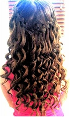 I should do waterfall braids, and spiral curls one day, love it