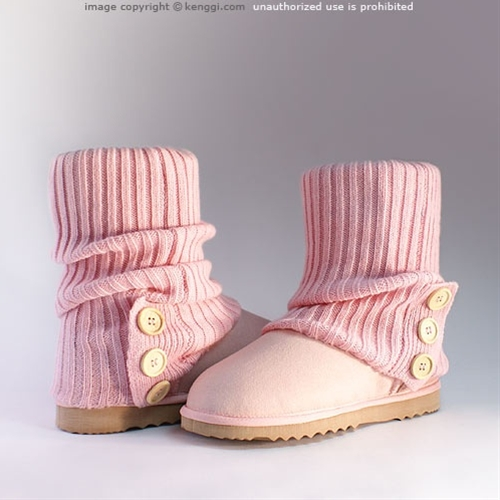 Cardi sock ugg boots in pink