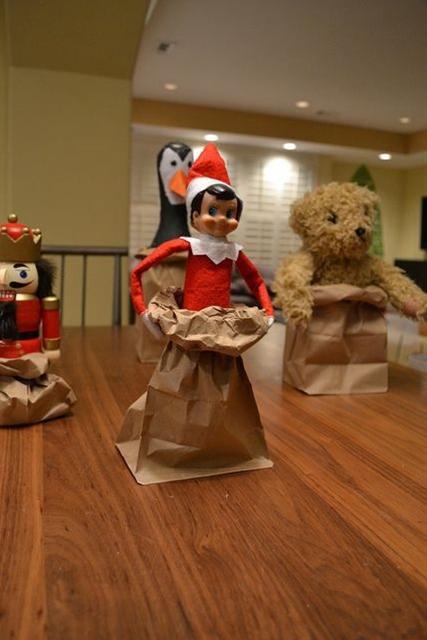 Elf on the Shelf  - Paper bag race