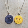 Moon emoji friendship necklaces at ShopBenji