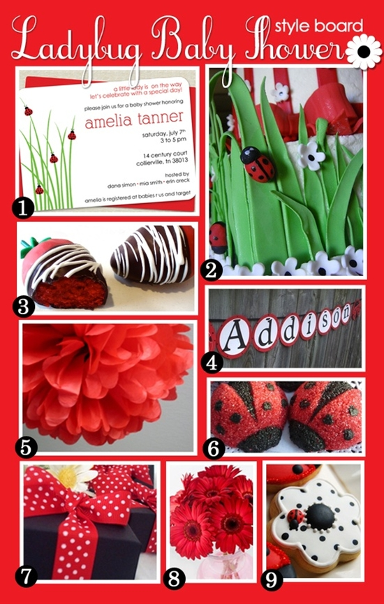 Ladybug party ideas - including invite