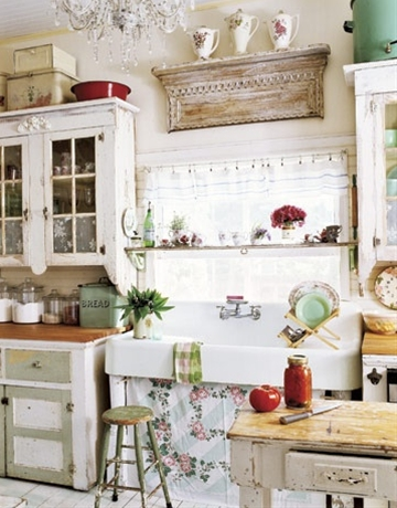 Vintage farmhouse kitchen.