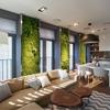 Incredible Vertical Garden Walls Bring Vibrant Life to a Contemporary Apartment Interior