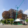 OMA's Taiwan theatre complex hits construction milestone