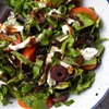 Mixed Herbs Salad With Olives, Tomatoes, and Fresh Mozzarella