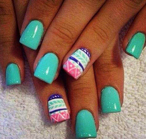 Stand out with a tribal print! For all your nail needs check out the closest Duane Reade.