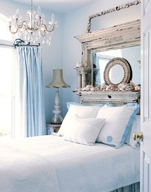 my dream bedroom, shabby beach chic. Ok, so I'm a romantic...