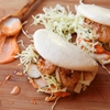 Steamed Buns With Grilled Shrimp and Sriracha Mayonnaise
