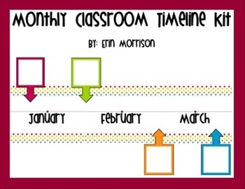 This monthly classroom timeline is a great way to help your students practice timeline skills and remember important events from the school year!