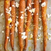 Roasted Heirloom Carrots with Feta, Truffle and Lemon Zest
