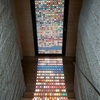 Laminated Glass Entry Door Creates a Mesmerizing Light Effect