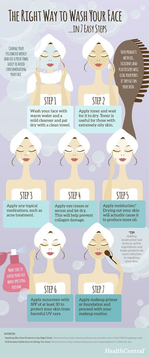 Here is a helpful guide on which order to apply skin care products after washing your face.