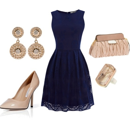 """Navy and Champagne"" by capellaweasley on Polyvore"