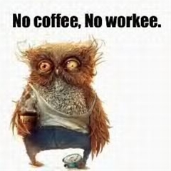 no coffee, no workee.