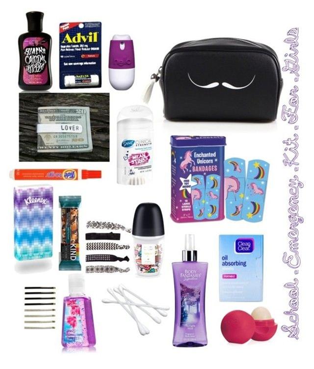 """""""School Emergency Kit For Girls"""" by nancydnanda on Polyvore"""