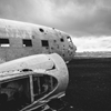 Crashed DC-3 - on Sólheimasandur, a black sand beach on...