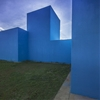Cachaça Museum by Jô Vasconcellos has bright blue blocky facades