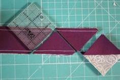 Half square triangle quilt tutorial tube piecing