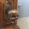 Skull Von Bronze Backplate Hardware for Doors by Faucetto