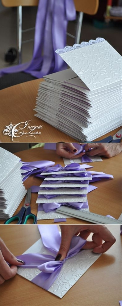 match lovely wedding dress and incorporate lavender and white, the wedding colors.
