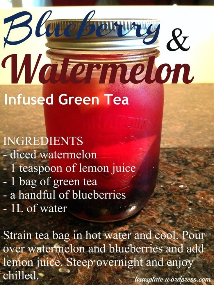 So I'm obviously having fun a little too much fun with these detox drinks but it just keeps getting better every time I try something new. An added benefit of this one is I used green tea instead of just water. I'm so happy everyone else is getting excited about these drinks as well so here's another one for you guys to try out ;).