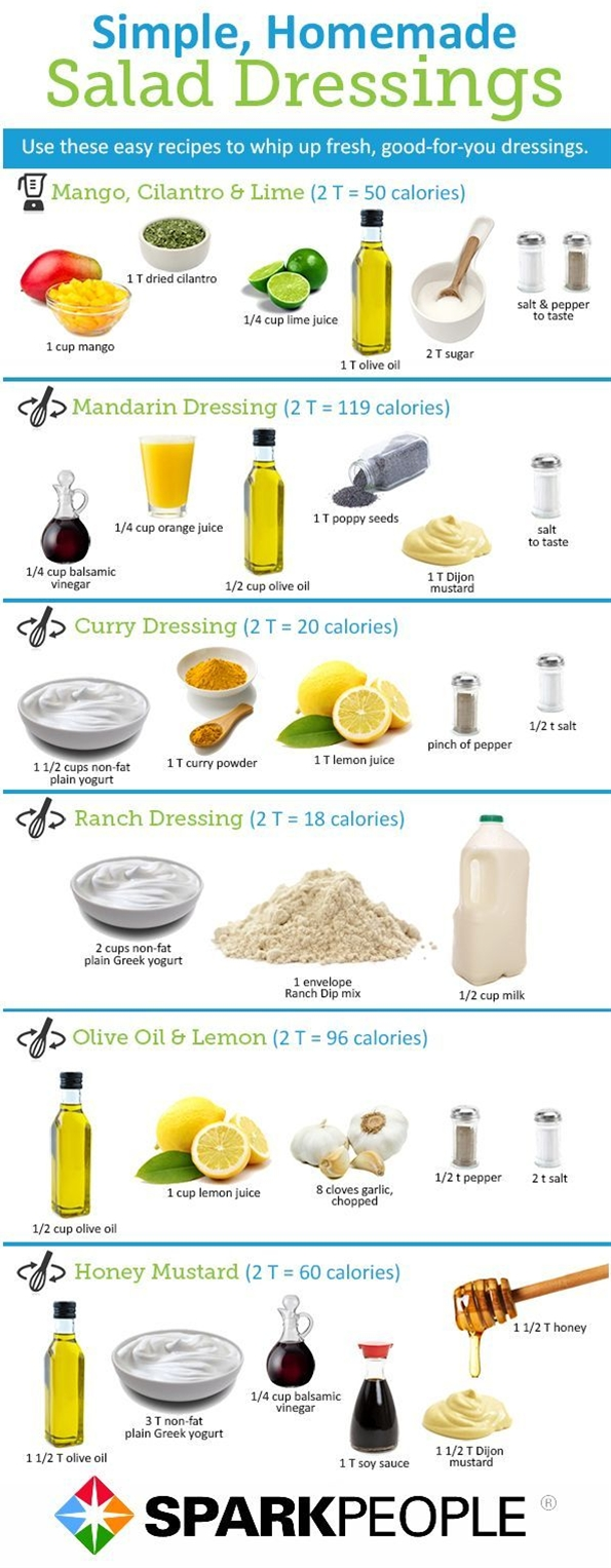 We've rounded up some healthy salad dressing recipes that will be sure to liven up your salads with less sodium and calories.