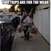 Grocery shopping like a real man. #9gag